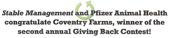 Pfizer Award to Coventry Farms Tallahassee